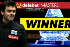 2016 Snooker Masters:ロニー大会6勝目!