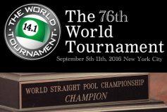 2016 World Tournament of 14.1:羅立文、6年ぶりの参戦決定!
