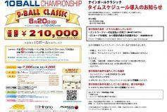 第40回 9-Ball Classic 10ボールチャンピオンシップ:タイムスケジュール