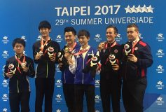 2017 ユニバーシアード台北:男子ダブルス、銀メダル!