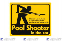NEWART:NEW!「Pool Shooter in the car」ステッカー