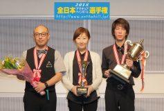 2018 全日本アマナイン:青木聖、6年ぶりのA級制覇!女子級は新谷通子、B級は森丈司が初優勝!