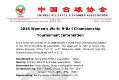 2018 女子9ボール世界選手権:要項
