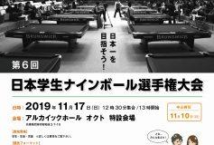 第6回 日本学生ナインボール選手権:要項【エントリーリスト】