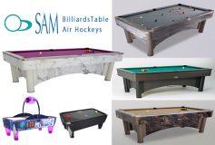 CENTRAL:SAM Billiardトーナメントテーブル、販売開始!