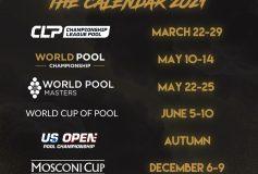 World Pool Mastersと男子9ボール世界選手権が5月開催に