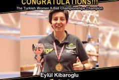 MEZZ:エイルル・キバログロが「Turkish Women 8-Ball Championships」で優勝!