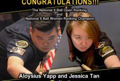 MEZZ:アロイシウス・ヤップとジェシカ・タンが「Singapore National 9 Ball Open Ranking」で優勝!