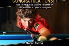 MEZZ:サラ・ロカが「Portuguese Billiard Federation 3rd Women's Open」で優勝!