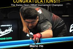 MEZZ:マリオ・ヒーが「Swiss Open 10Ball tournament」で優勝!
