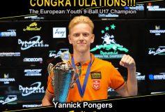 MEZZ:ヤニク・ポンジャーズが「European Championships Youth 2021 Laško / U17 9-Ball」で優勝!