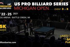 """Predator US Pro Billiard Series:第3戦""""ミシガン・オープン""""スタート!"""