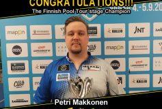 MEZZ:ペトリ・マコネンが「Finnish Pool Tour stage」で優勝!