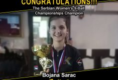 MEZZ:ボヤナ・サラクが「Serbian Women's 9-ball Championship」で優勝!