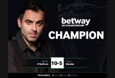 2017 UK Championship:ロニー・オサリバン、6勝目!