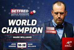 2018 World Snooker Championship:マーク・ウィリアムズ、大会3勝目!