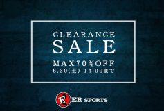 ERスポーツ:クリアランスセール開催中!(~30日)