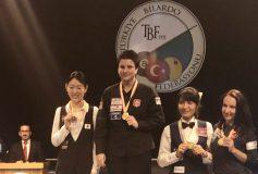 世界レディース3C選手権:肥田緒里恵、準優勝!