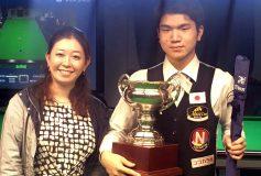 ADAM CUP 18th Snooker JAPAN Open:神箸渓心、連覇!
