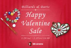 ERスポーツ:ビリヤード用品 バレンタインセール!