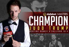 2019 Snooker Masters:ジャッド・トランプ初優勝!
