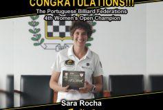 MEZZ:サラ・ロカが「Portuguese Billiard Federation 4th Women's Open」で優勝!