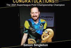 MEZZ:サイモン・シングルトンが「2021 Superleague Pool Championship」で優勝!