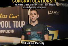 MEZZ:アレクサ・ペツェルが「Mezz Cues Balkan Pool Tour stage in Sarajevo」で優勝!