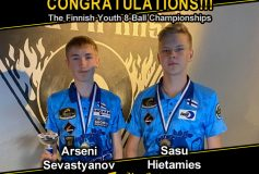 「Finnish Youth 8-Ball Championships」でMEZZ プロスタッフがワンツーフィニッシュ!