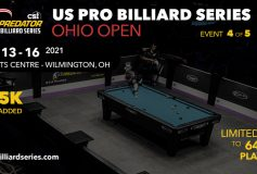 """Predator US Pro Billiard Series 第4戦""""オハイオ・オープン"""":大井直幸、9位タイで終了"""